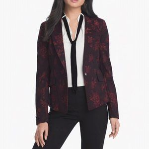 White House Black Market Rose Jacquard Blazer 8
